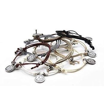 Angel – Handgefertigtes Armband für Damen und Herren mit Schutzengel Anhänger. Verstellbarer Verschluss. In verschiedenen Farben erhältlich.