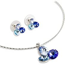 Trio LOVE ® Crystallized? Swarovski Elements-Collana con cristalli, Diamond Cut