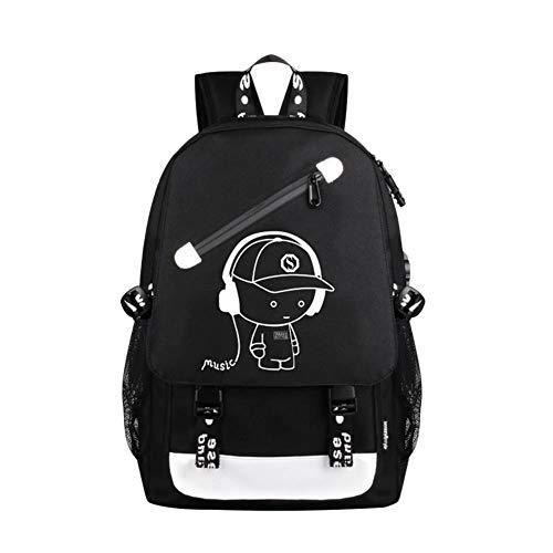 AITOCO Rucksack für Jungen und Mädchen, Anti-Diebstahl-Laptoprucksack mit USB-Ladeanschluss, modischer Oxford-Gewebe, Schulter-Tagesrucksack, wasserabweisend, mit großem Fach für Jugendliche -