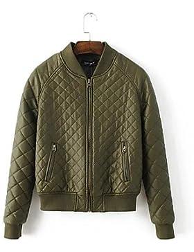 TT & ShangYi Standard relleno de mujer, Abrigo Simple romántico moda ciudad para USCIRE lisa Casual algodón algodón...