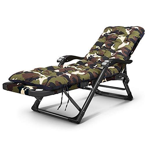 Erru sedia sdraio- lettino pieghevole reclinabile con cuscino camo, lettino prendisole regolabile per lettino da spiaggia all'aperto lettino da piscina, supporti 440lbs (colore : verde)