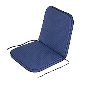 Alfresia Outdoor Garden Recliner Dining Chair Cushion in Ares Blue - 53cm W x 95cm L, High Back, Wide Seat, Diamond Pattern, Filled in the UK