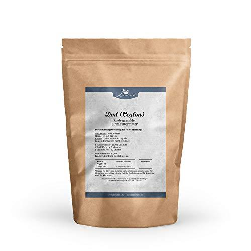 Krauterie Ceylon Zimt gemahlen in Lebensmittel-Qualität, frei von jeglichen Zusätzen, für Pferde und Hunde (Cinnamomum verum) - 250 g - Zimt Antibakteriell