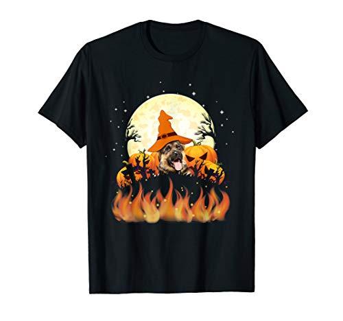 German Shepherd Tee Shirt Halloween - Braun Shepherd Kostüm