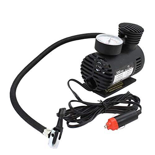 non-brand MagiDeal Auto Luftpumpe Fahrrad Luftkompressor Fahrradpumpe mit Manometer