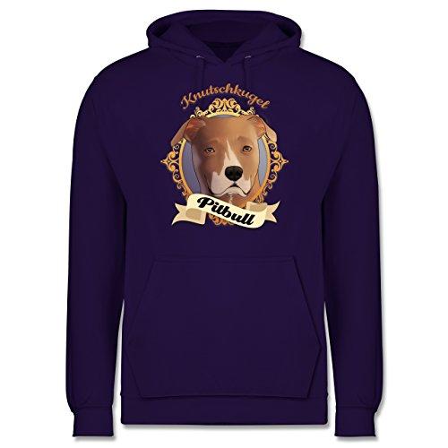 Hunde - Pitbull - Knutschkugel - Männer Premium Kapuzenpullover / Hoodie Lila