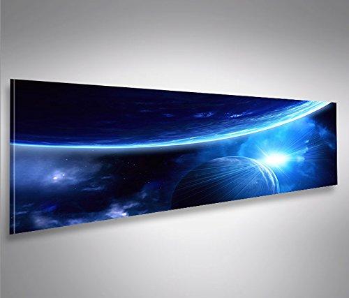 bild-bilder-auf-leinwand-blue-space-v2-weltall-planeten-weltraum-panorama-xxl-poster-leinwandbild-wa