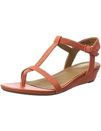 Amazon.fr   Orange - Sandales   Chaussures femme   Chaussures et Sacs 6c6da3e09b7c