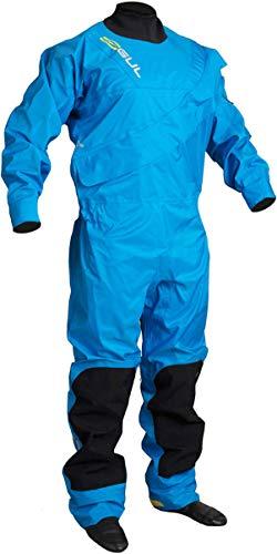GUL Junior Dartmouth Eclip Zip- Drysuit in Blau - Mit kostenlosem Unteranzug - Perfekt für Segelyacht, Jollen und Kajakfahren
