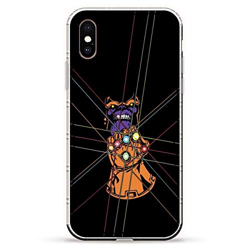 BEMAGIC iPhone XS Case,Flexible Slim Silicone TPU Protector Cover Soft Thin Gel Skin For Apple iPhone XS-Thanos and Infinity Gauntlet