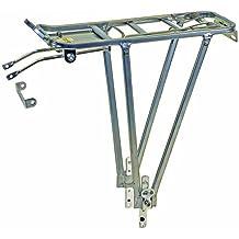 """Ventura Screw On ll - Soporte trasero para bicicleta (aluminio; ajustable para tamaños 24/26/28""""), color plata"""