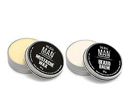 Mustache Wax(50g) & Beard Balm(50g) by THE REAL MAN