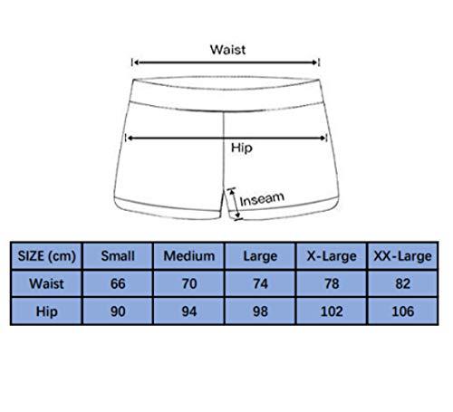 Lever Badeshorts Badehose Damen Lang Schwimmshorts Schwimmhose Boardshorts UV Schutz Bade Hotpants Schwarz XL