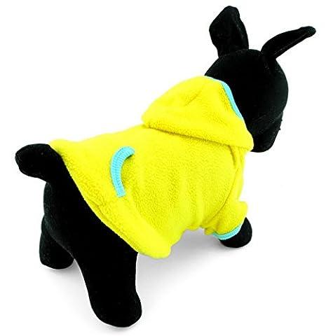 Ranphy Petite Pet Vêtements pour chiens chats vierge en polaire Manteau à capuche Pull Sport Style