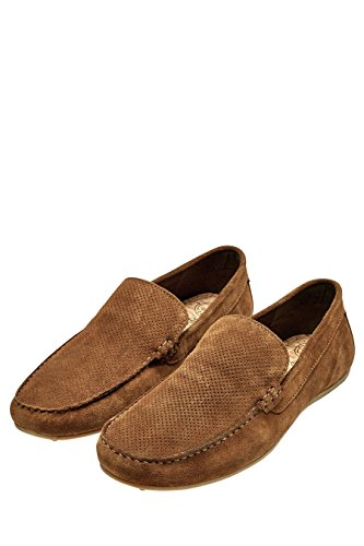 next Herren Perforierte Mokassins Slipper Veloursleder Schuhe Hellbraun UK 6.5 EU 40 (Leder-plattform Perforierte)
