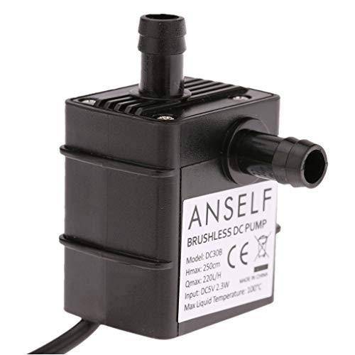 Decdeal USB Wasserpumpe Teichpumpe für Brunnen Aquarium und Modellbau 220L / H Auftrieb 250cm DC5V