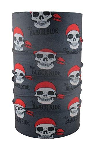 headloop-grigio-kids-teschio-pirata-bandana-multifunzione-sciarpa-foulard-testa-panno-in-microfibra