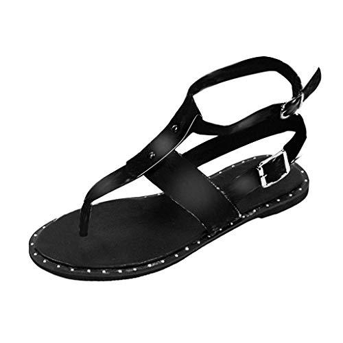 LianMengMVP Outdoor Strand Sandaletten Frauen Europa Sommer böhmische offene Zehen Schlangen Schnallen römische Sandalen Wohnungen Zehentrenner Damen
