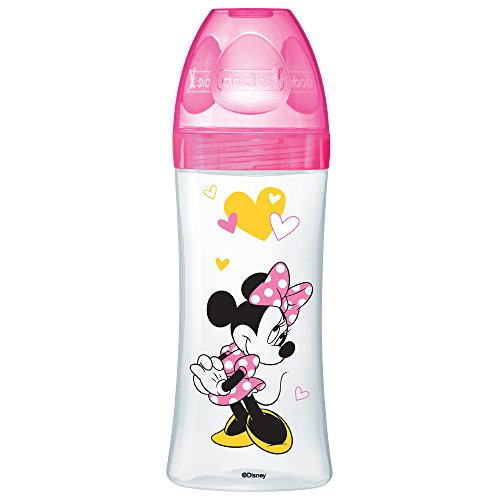 dodie Biberon Initiation Minnie Fuchsia 330 ml 6+ Mois 3 Debit Rapide