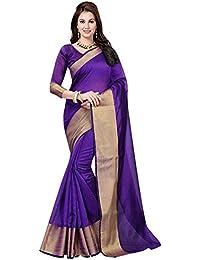 Alka Fashion Women's Art Silk Saree With Blouse Piece (Afs173Q,Purple,Free Size)