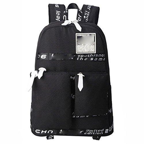 Herren Rucksack Multifunktionstaschen Oxford Rucksack Aufbewahrungsbeutel Mit Mehreren Fächern Black