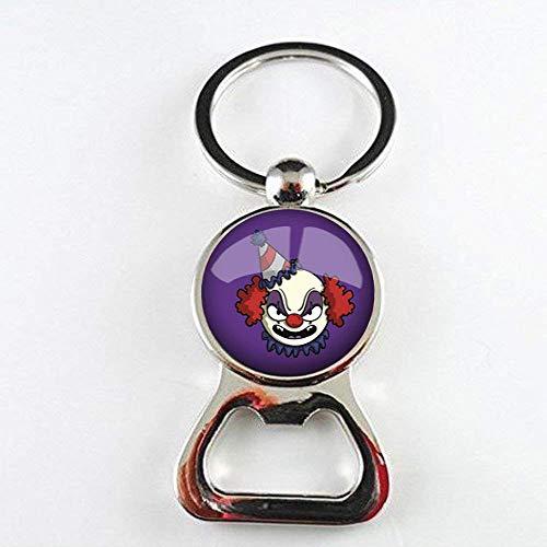 Handgefertigter niedlicher Clown-Flaschenöffner, Halloween-Clown-Anhänger, Foto-Schmuck, handgefertigter Schmuck