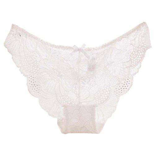 FEITONG Frauen Unterwäsche Slips G-Strings Nahtlose Thongs Damen Unterwäsche Soft (M, Weiß) Günstige Thong Packs