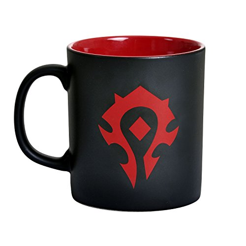 World of Warcraft Horda logo de la Copa 325ml rojo negro de cerámica