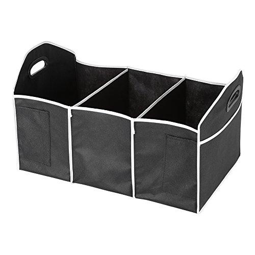 Auto Kofferraum Tasche Rücktasche Speicherorganisator Faltbare Fracht Lagerung Multifunktions Auto zusammenklappbar Aufbewahrungsbox Bin Korb Container mit Griffen (Lagerung Trunk Box)