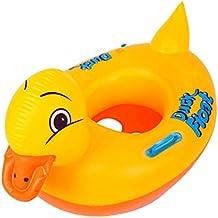 Mattelsen Anillo de Natación para Bebé, Barco Flotador de Bebé Pato Amarillo Inflable de La