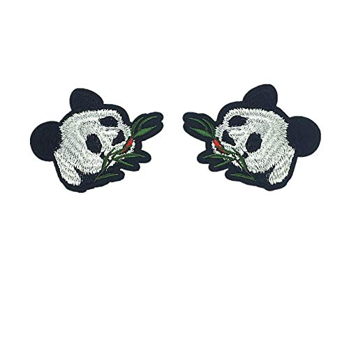 (Fansi 1 Paar süße Panda-Form Pailletten einfaches Aufnähen Aufbügeln Bestickt Handarbeit Baby Kinder Mädchen Frauen Kleidung DIY Kostüm Zubehör)