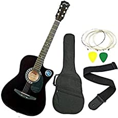 Jixing JXNG 6 Strings Acoustic Guitars(Black)