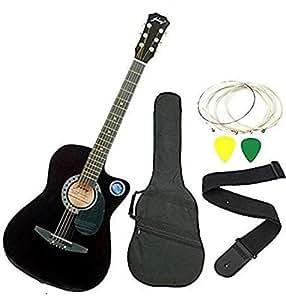 Jixing JXNG 6 Strings Acoustic Guitars(Black)