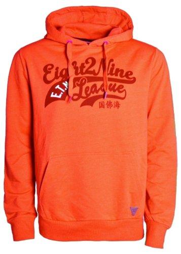 Eight2Nine Cooler Hoodie mit Farbspritzern und Print