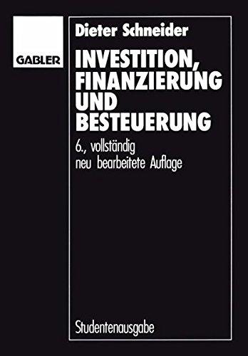 """""""Investition, Finanzierung und Besteuerung"""""""