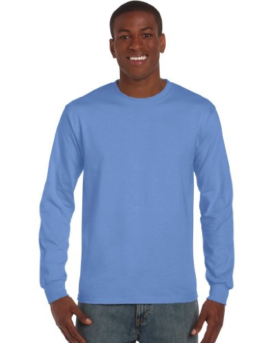 Gildan Ultra Herren T-Shirt mit Rundhalsausschnitt, langärmlig Medium,Blau - Carolina Blue (Carolina Blau T Shirt)