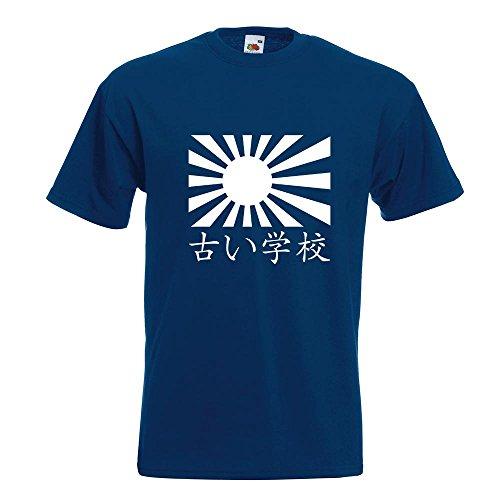 KIWISTAR - Japan Oldschool T-Shirt in 15 verschiedenen Farben - Herren Funshirt bedruckt Design Sprüche Spruch Motive Oberteil Baumwolle Print Größe S M L XL XXL Navy