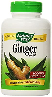 Nature's Way Value Size Ginger Root 180 Capsules from Nature's Way