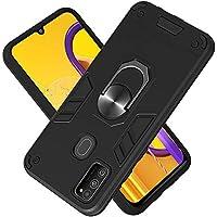 Funda para Samsung Galaxy M30S Soft TPU + Duro PC Doble Parachoques Cubierta a Anillo Soporte con Soporte y Carcasa Desmontable, Funda Protectora Serie Armadura (Negro)