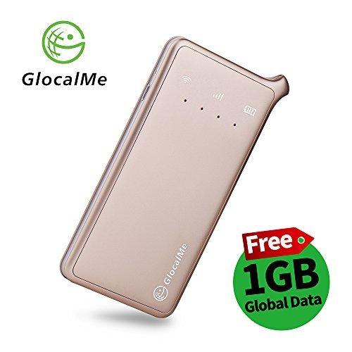 Foto GlocalMe U2 Router 4G LTE Pocket WIFI Mobile, Nessuna Carta SIM Roaming Internazionale Internet Gratuito con 1 GB gratis Global Data per Viaggi e Affari (Oro)