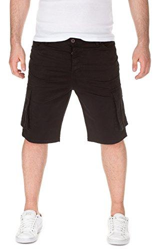 Yazubi Herren Chino Bermuda Cargo Shorts Taric black (3000)