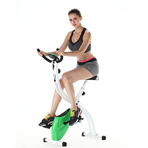 Wanlianer Liegerad S-förmige Haushalt Ultra-leise Zwei-Wege-Folding Magnetic Control Fitness Fahrrad Gym Spinning Bike Innen- -
