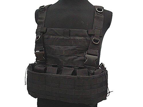 Taktische Tac Combat Weste Molle Magazin Beutel Brust Rig Airsoft Paintball Military BK Tac Weste Beutel