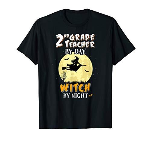 2 Klasse Lehrer Am Tag Hexa Bei Nacht T-Shirt Schule Lustig T-Shirt