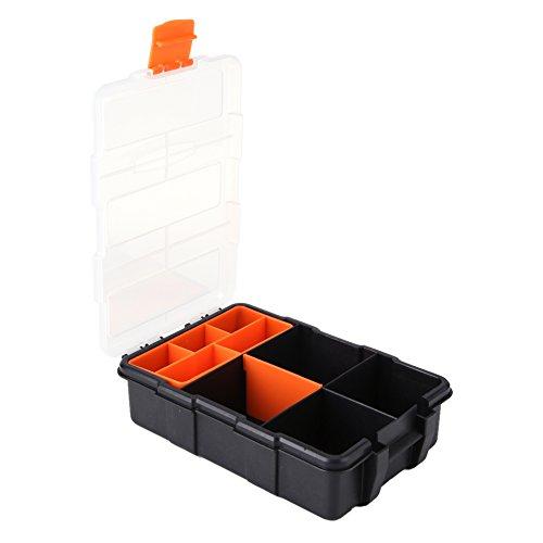 Kunststoff Hochleistungswerkzeug Aufbewahrungsbox Organizer mit 11 Fächern Slots Zwei-Schicht-Aufbewahrungskoffer für Schrauben, Muttern und Bolzen Heavy Duty Tray
