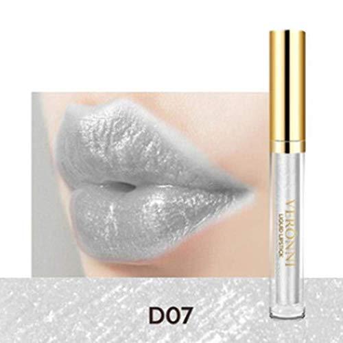 Egbert Glitter-Lippenglanz-Lippenpigment-Mineralflüssigkeits-Lippenstift-Goldschimmer-Langlebige Verfassungs-Kosmetik - 007