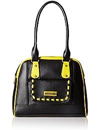 Fantosy Women's Handbag (Black and Yellow) (FNB-434)