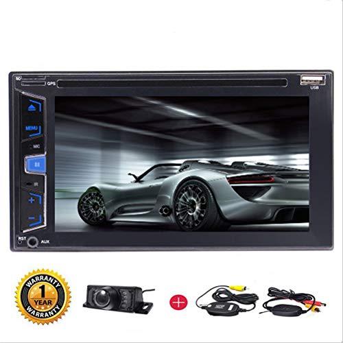 EINCAR 6,2-Zoll-Double 2 Din Head Unit Wince OS Car Stereo In-Dash Auto Audio Radio 1080P Video-Player Bluetooth/AM/FM/RDS/DVD/CD-Lenkrad-Steuerung + Wireless Fernbedienung & Wireless Rück