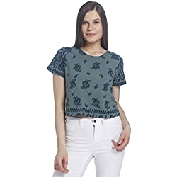 VERO MODA Women's Body Blouse Top (10169875_North Atlantic_S)