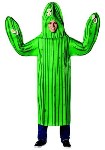 Cactus Kostüm - Generique - Lustiges Kaktus-Kostüm für Erwachsene grün-schwarz M / L